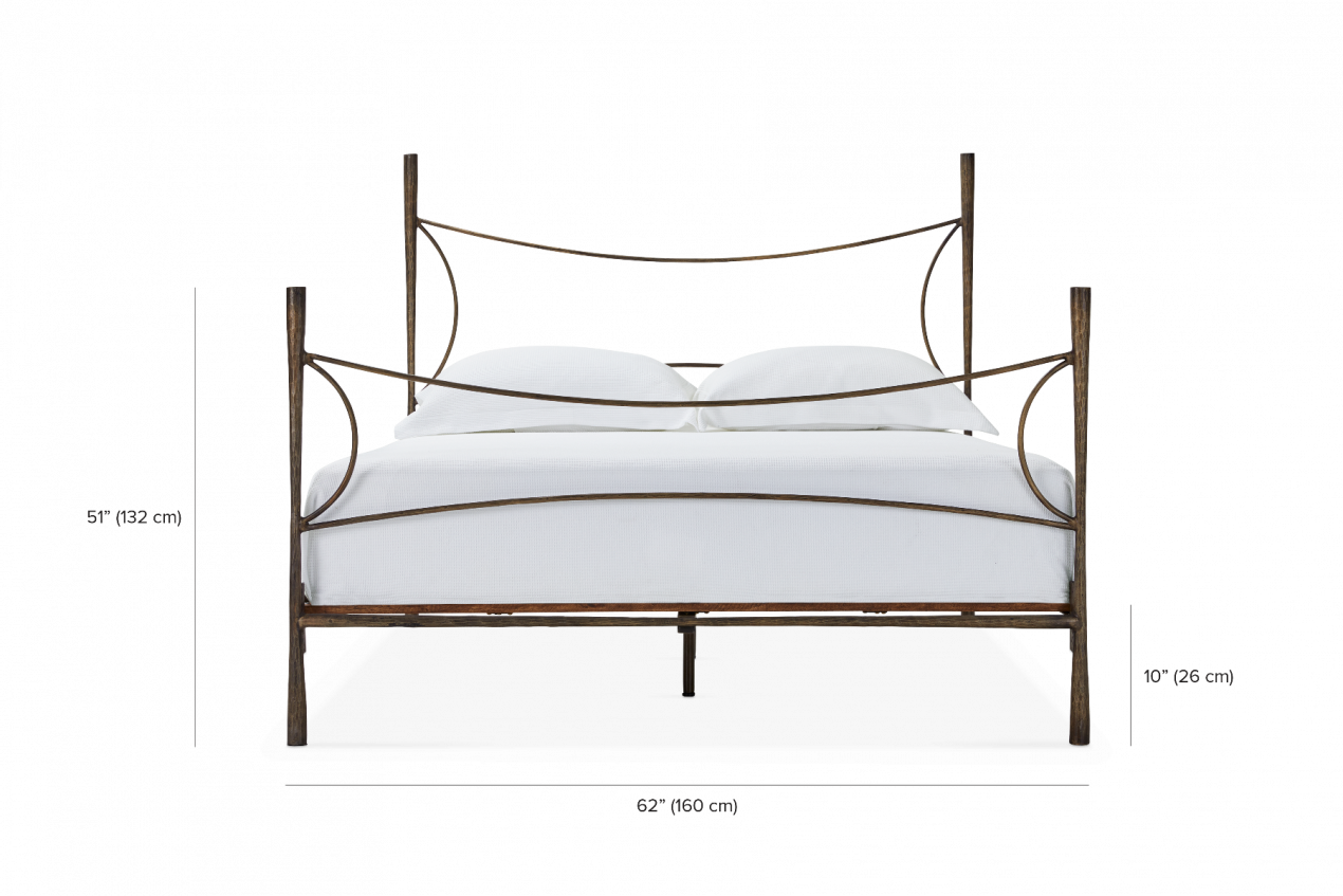 Picture of: Westwood Antique Brass Bed Maison Corbeil