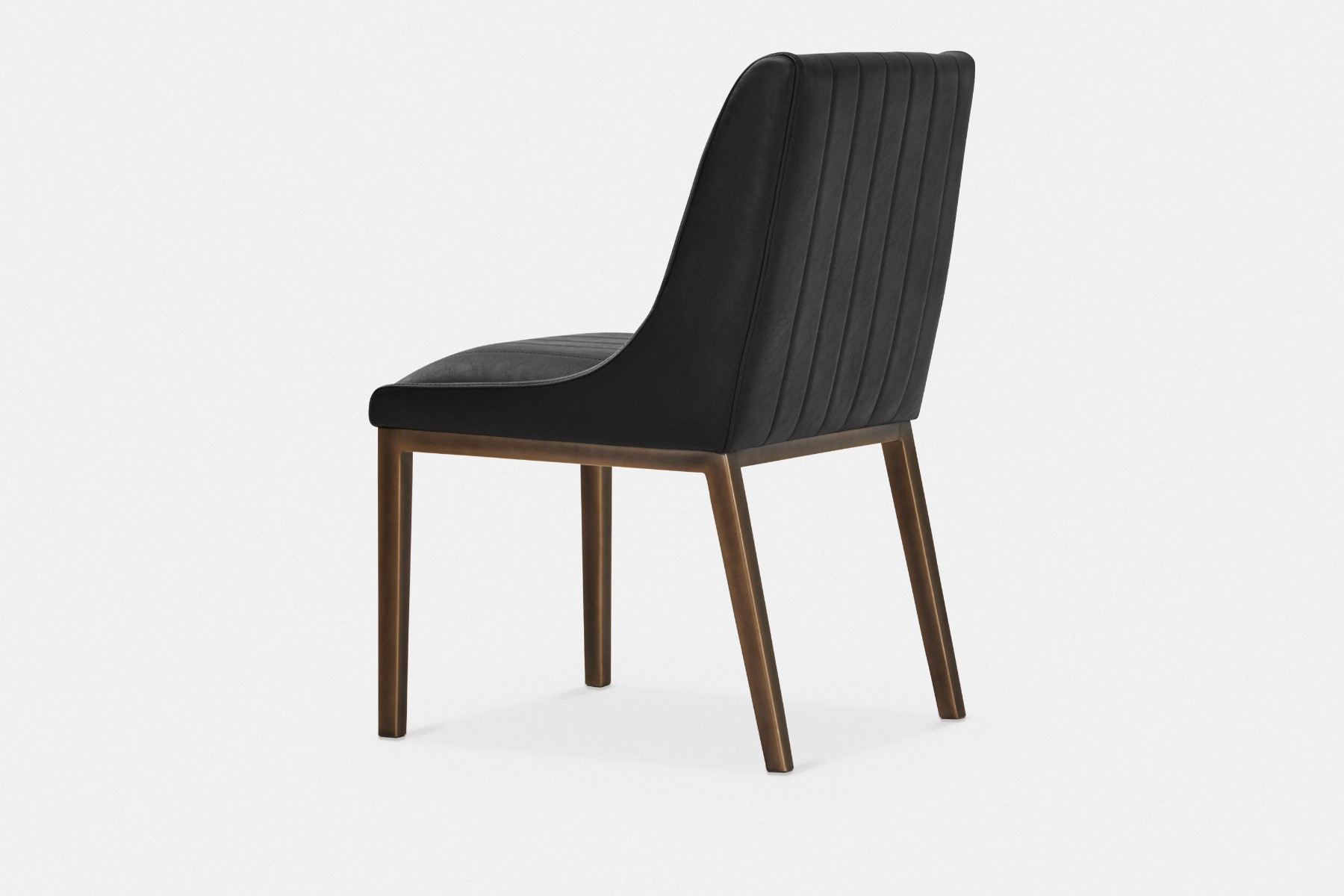 Halden, Aged Leather Dining Chair | Maison Corbeil