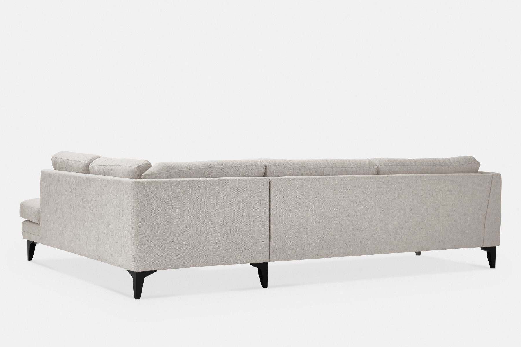Sectional Sofa In Chenille Fabric