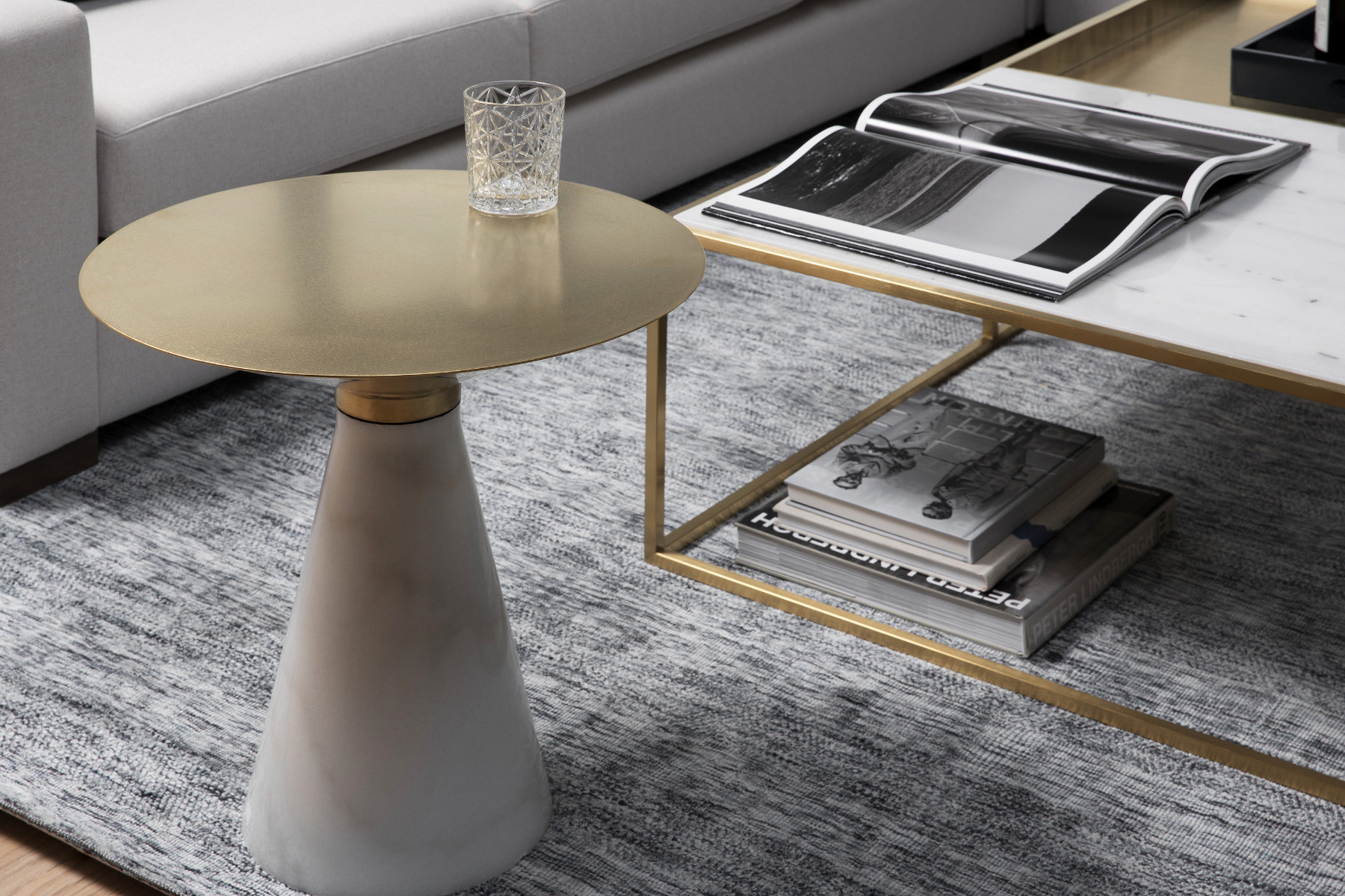 Iris, Side Table with Conical Base | Maison Corbeil
