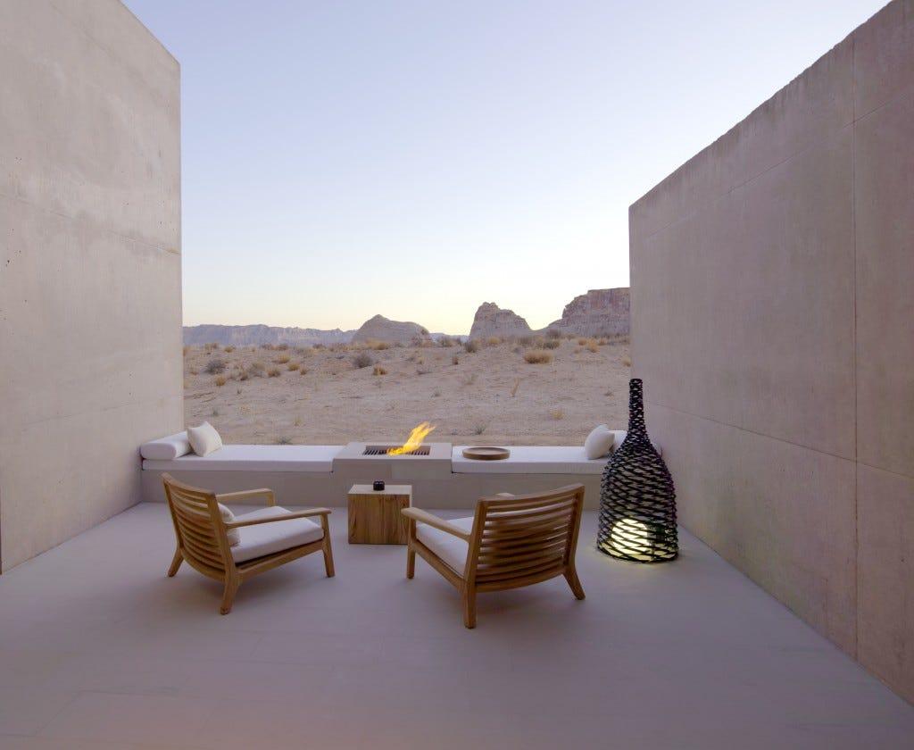Amangiri Suite Desert Lounge
