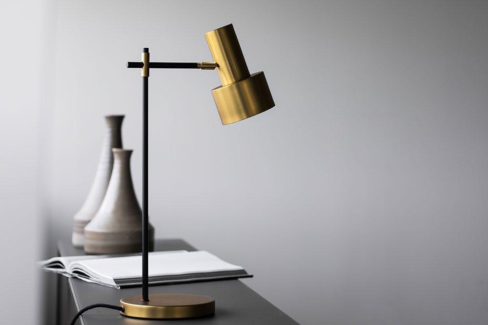 Lampe de table en laiton Magnum
